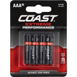 COAST Extreme Performance AAA 4 pack
