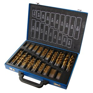 NORMEX 170pc HSS Tin Twist Drill Assortm