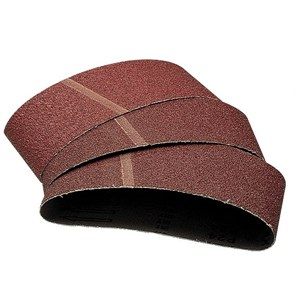 WOLFCRAFT 3 SANDING BELTS 80GRIT  75x510mm