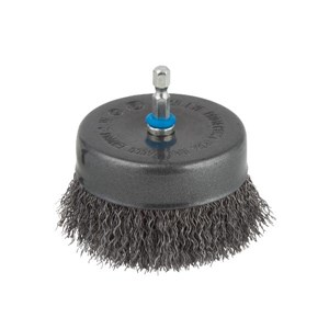 WOLFCRAFT WIRE CUP BRUSH 80MM   6mm SHANK