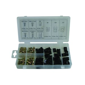 NORMEX 170pc U-Clip & Screw Assortment