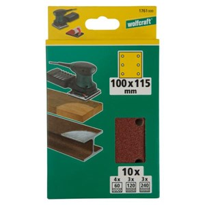 WOLFCRAFT 10 Easy-fix Sanding Discs Grit60/120/240